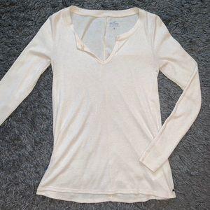 Long Sleeve Tan Hollister Shirt